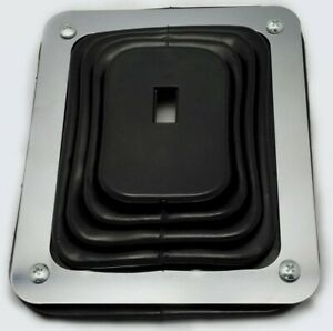 Universal Hurst Style Rubber Shifter Boot Chrome Plate 5 5 8 X 6 3 4 9630
