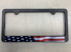 Usa American Flag Plastic License Plate Frame Car Truck Tag Cover Holder Us