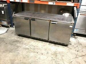 Beverage Air Ucr72ay Stainless Steel Undercounter 3 Door Cooler Refrigerator