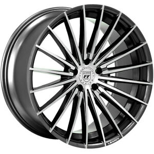 4ea 20 Lexani Wheels Ressa Black Machined Flow Forged Rims S1