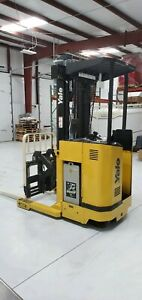 Yale Nr035 Electric Narrow Aisle Reach Truck Forklift Fork Lift 3500 W Battery