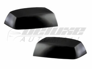 Black Clip On Replacement Mirror Cover Shells For 2019 2020 Ford Ranger 2 R L