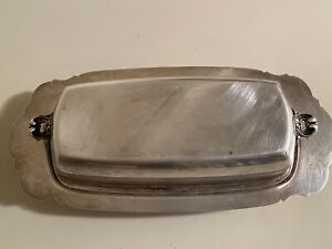 Vintage Wallace Sterling Silver Butter Serving Dish 278grams Low Price L K
