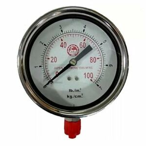 Pressure Gauge Ss Body Size 4 0 To 4000 Psi Connection 3 8 Bsp
