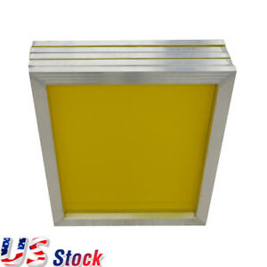 Us Stock 6 Pcs Aluminum Silk Screen Frame 230 Yellow Mesh 23 X 31