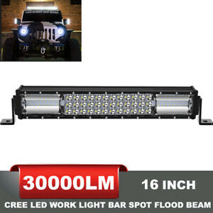 32inch 840w Curved Led Light Bar Spot Flood Combo Driving Ute Offroad Truck 4wd