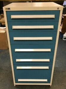 Stanley Vidmar Cabinet Made Very Heavy Duty 7 Drawer
