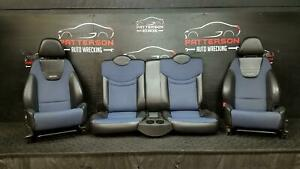 2004 Saturn Ion Coupe Front Bucket Back Recaro Manual Seat Black Blue Leather