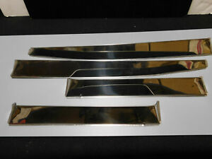1948 53 Cadillac Seres 62 Stainless Steel Vent Shades Nos