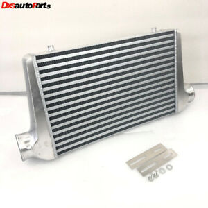 Emusa Aluminum Polished Intercooler Overall Size 25 X13 X3 3 Inlet Outlet