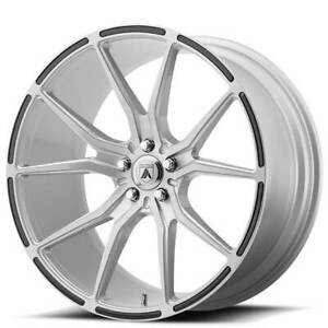 4ea 22 Staggered Asanti Wheels Abl 13 Vega Brushed Silver W Carbon Fiber S11