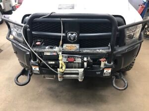 2014 Dodge Ram Front Push Bumper With Warn Winch