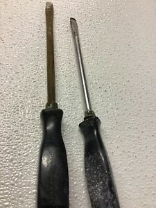 Snap On Tool Vintage 7 8 Black Handle Flat Screwdrivers Usa