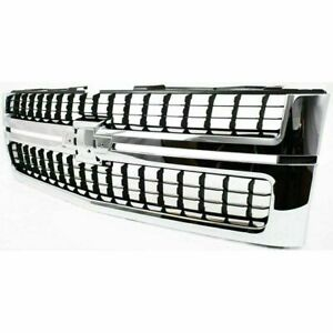 2007 2010 Silverado Chrome Grille With Black Insert For 2500hd 3500hd