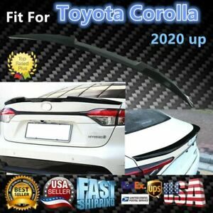 Fit For Toyota Corolla 2020 Up Matte Black primer Rear Tail Trunk Spoiler Wing