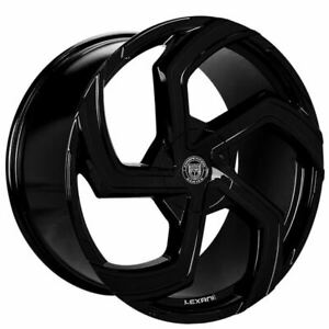 4ea 24 Lexani Wheels Swift Gloss Black Rims s13