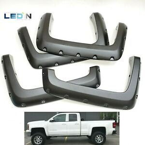 Fender Flares For 2014 2018 Silverado 1500 2500 3500 Pocket Style 6 5 8 Bed