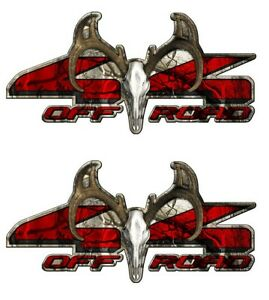 4x4 Buck Off Road Truck Camo Camouflage Graphic Decal Sticker Set 2 Pack A001bu