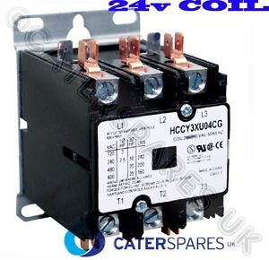 Hp29509 Henny Penny 24v Coil 3 Pole Contactor For Fryer Replaces Hp29510 Parts