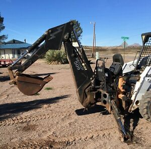 Bradco 509 Backhoe Attachment For Skid Steer Loaders Good Used Condition