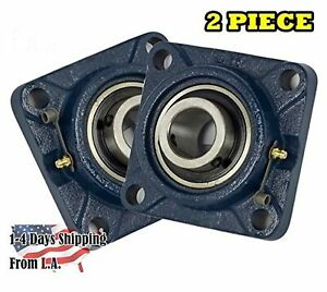 2 Pieces 1 Inch 4 Bolts Pillow Block Flange Bearing ucf205 16 self alignment