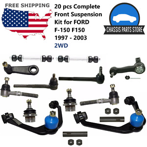 20 Pcs Complete Front Suspension Kit For Ford F 150 F150 1997 2003 2wd