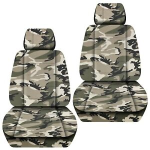 Front Set Car Seat Covers Fits Ford Escape 2005 2020 Camo Tan