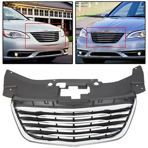 For 2011 2014 Chrysler 200 Chrome Front Hood Grille Grill New 68082050ae 12 13