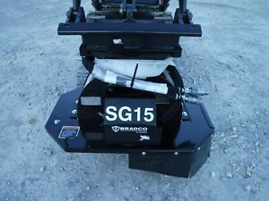 Bradco Sg15 Stump Grinder Attachment Fits Mini Skid Steer Loader 7 Depth