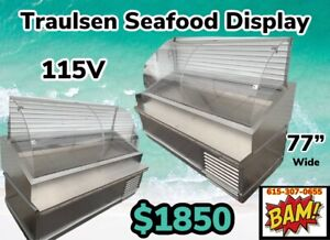 Traulsen Stainless Steel Refrigerated Fish Display Case 77 Wide 115v