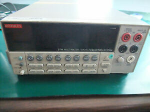 Keithley 2700 6 1 2 Digit Multimeter data Acquisition System 2 slot Mainframe