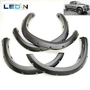 Fender Flares For 2007 2013 Toyota Tundra Pocket Style Texture Black 4 Pcs Kit