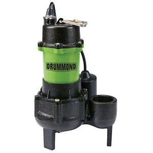 1 2 Hp Submersible Sewage Pump Tether Switch 6000 Gph Heavy Use Non clogging
