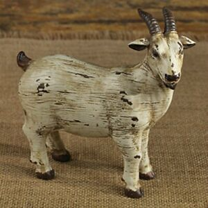 New Primitive Country Rustic Old Goat Figurine Farm Animal Figure