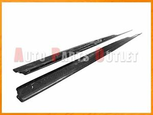 E Style Carbon Fiber Side Skirt Lip For 2015 2017 Bmw F82 M4 Coupe Convertible