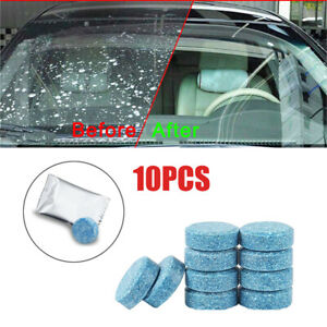 10x Car Solid Wiper Effervescent Tablet Cleaner Auto Windshield Glass Cleaning