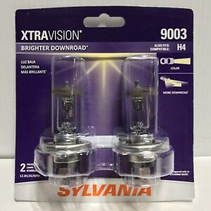 Sylvania Xtravision 2 Pack 9003 Halogen Car Headlight Light Bulbs H4 Compatible