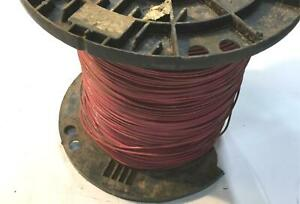 Red 14 Awg Thhn Stranded Wire 40 0 Lb Spool Nos