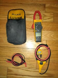 Fluke 376 True Rms Ac dc Clamp Meter Iflex Flex Cable Case Leads Fully Tested