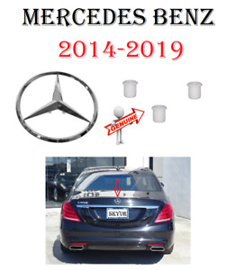 Mercedes Rear Trunk Chrome Star Emblem Sign For W222 S550 S560 S450 S63 S65 S400