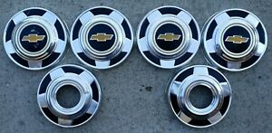 1970 s 1980 s Chevy Truck 4x4 Dog Dish Hubcaps 10 1 4 Set Of 6