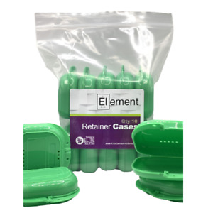 Element Retainer Cases 10 Pack Green Braces Orthodontic Nightguard Bleaching