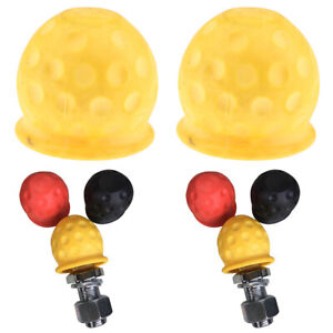 2 Packtow Ball Cover Caps Towing Hitch Caravan Trailer Towball Protect Universal