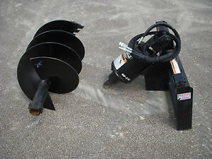 Lowe Bp210 Round Auger Drive With 24 Auger Bit Fits Skid Steer Loader Planetary
