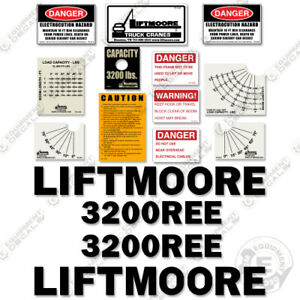 Liftmoore 3200ree Decal Kit Crane Arm Replacement Stickers 7 year Vinyl 3m