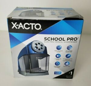 X acto Schoolpro Classroom Electric Pencil Sharpener Heavy Duty Blue grey