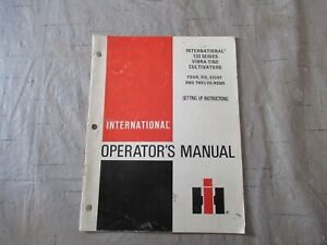 International 133 Series Cultivators Operators Manual