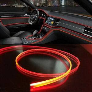 4m Fiber Optic Interior Lights 12v 4led Ambient Lamp Red Car Interior Decor Diy