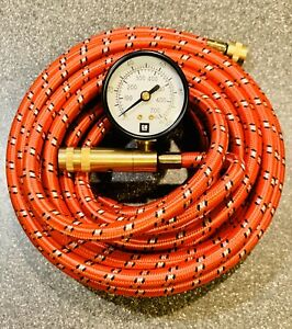 New Gm On Board Air Compressor Red Air Hose With Tire Inflator Gauge