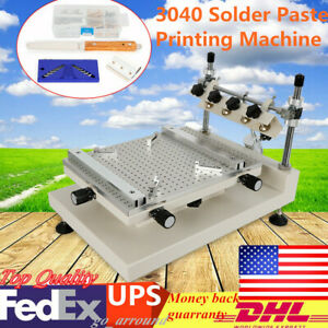 High Accuracy Pcb Smt Stencil Printer Machine 3040 Solder Paste Printing Machine